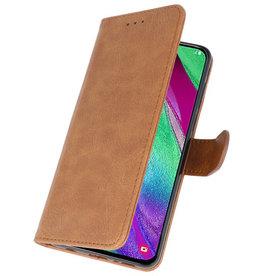Bookstyle Wallet Cases Hülle für Galaxy A40 Braun