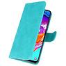 Bookstyle Wallet Cases Hoesje voor Samsung Galaxy A70 Groen