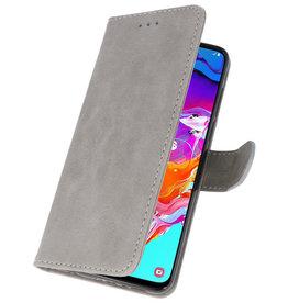 Bookstyle Wallet Cases Hülle für Samsung Galaxy A70 Grau