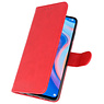 Bookstyle Wallet Cases Hülle für Huawei P Smart Z Red