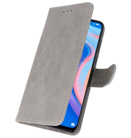 Bookstyle Wallet Cases Hoesje voor Huawei P Smart Z Grijs