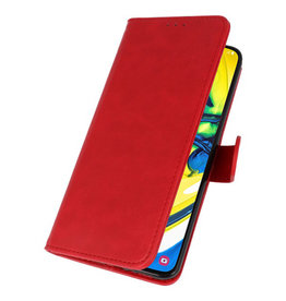 Bookstyle Wallet Cases Hülle für Samsung Galaxy A80 / A90 Rot