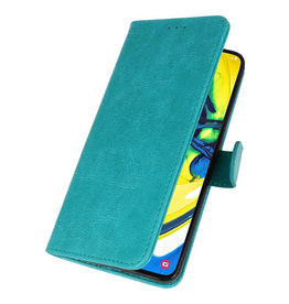 Bookstyle Wallet Cases Hülle für Samsung Galaxy A80 / A90 Grün