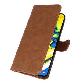 Bookstyle Wallet Cases Hülle für Samsung Galaxy A80 / A90 Braun