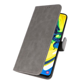 Bookstyle Wallet Cases Hoesje voor Samsung Galaxy A80 / A90 Grijs