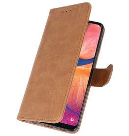 Bookstyle Wallet Cases Hülle für Samsung Galaxy A20e Braun