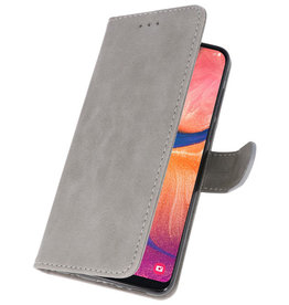Bookstyle Wallet Cases Hülle für Samsung Galaxy A20e Grau