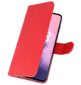 Bookstyle Wallet Cases Case for OnePlus 7 Red