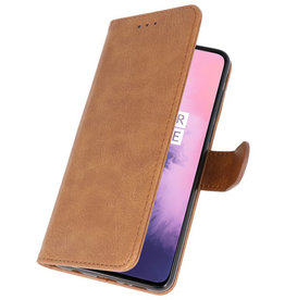 Bookstyle Wallet Cases Case for OnePlus 7 Brown