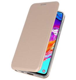 Slim Folio Hülle für Samsung Galaxy A70 Gold