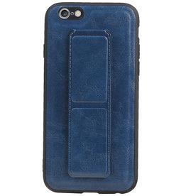 Grip Stand Hardcase Backcover für iPhone 6 Blau