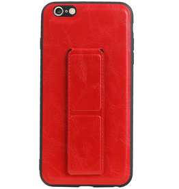 Grip Stand Hardcase Backcover voor iPhone 6 Plus Rood
