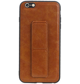 Grip Stand Hardcase Backcover for iPhone 6 Plus Brown