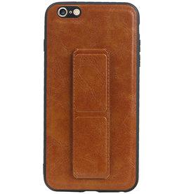 Grip Stand Hardcase Backcover für iPhone 6 Plus Braun