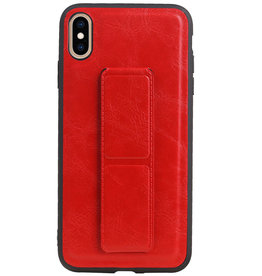 Grip Stand Hardcase Backcover for iPhone XS Max Red