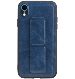 Grip Stand Hardcase Backcover for iPhone XR Blue