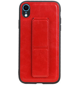 Grip Stand Hardcase Backcover for iPhone XR Red