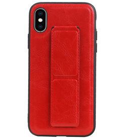 Grip Stand Hardcase Backcover for iPhone XS / X Red