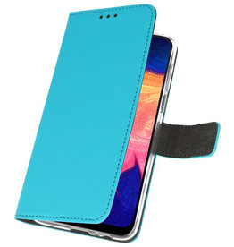 Wallet Cases Hülle für Samsung Galaxy A10 Blue
