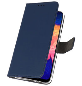 Wallet Cases Hülle für Samsung Galaxy A10 Navy