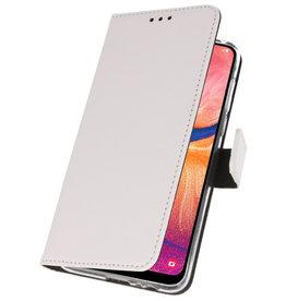 Wallet Cases Hülle für Samsung Galaxy A20 Weiß