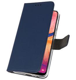 Wallet Cases Hülle für Samsung Galaxy A20 Navy