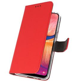 Wallet Cases Hülle für Samsung Galaxy A20 Red