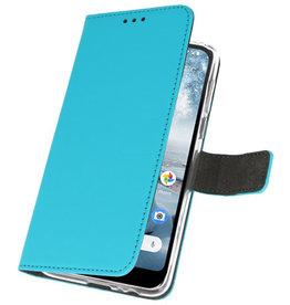 Wallet Cases Hoesje voor Nokia 4.2 Blauw