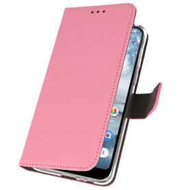 Wallet Cases Hoesje voor Nokia 4.2 Roze