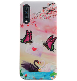 Butterfly Design Hardcase Backcover für Samsung Galaxy A70