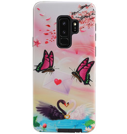 Butterfly Design Hardcase Backcover für Samsung Galaxy S9 Plus