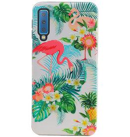 Flamingo Design Hardcase Backcover voor Samsung Galaxy A7 2018