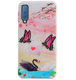 Butterfly Design Hardcase Backcover for Samsung Galaxy A7 2018