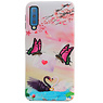 Butterfly Design Hardcase Backcover für Samsung Galaxy A7 2018