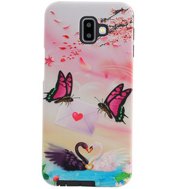 Butterfly Design Hardcase Backcover für Samsung Galaxy J6 Plus