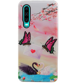 Butterfly Design Hardcase Backcover for Huawei P30