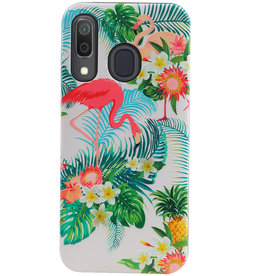 Flamingo Design Hardcase Backcover for Samsung Galaxy A30