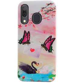 Butterfly Design Hardcase Backcover for Samsung Galaxy A30