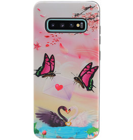 Vlinder Design Hardcase Backcover voor Samsung Galaxy S10