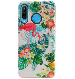 Flamingo Design Hardcase Backcover für Huawei P30 Lite / Nova 4E