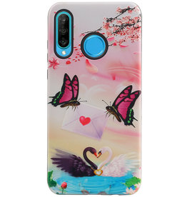 Butterfly Design Hardcase Backcover for Huawei Nova 4E