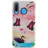 Butterfly Design Hardcase Backcover für Huawei Nova 4E
