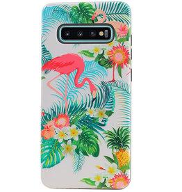Flamingo Design Hardcase Backcover for Samsung Galaxy S10 Plus