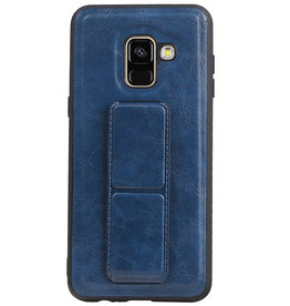Grip Stand Hardcase Backcover for Samsung Galaxy A8 (2018) Blue