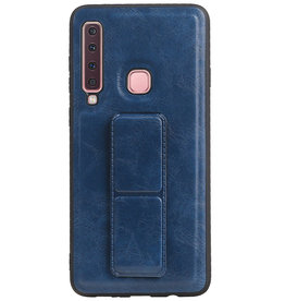 Grip Stand Hardcase Backcover für Samsung Galaxy A9 (2018) Blau