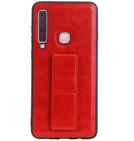 Grip Stand Hardcase Backcover für Samsung Galaxy A9 (2018) Rot