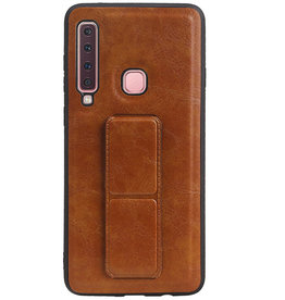 Grip Stand Hardcase Backcover for Samsung Galaxy A9 (2018) Brown