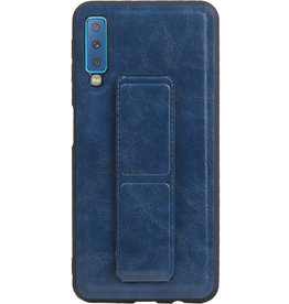 Grip Stand Hardcase Backcover for Samsung Galaxy A7 (2018) Blue