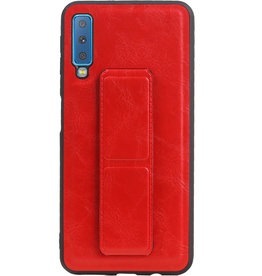 Grip Stand Hardcase Backcover für Samsung Galaxy A7 (2018) Rot