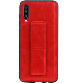 Grip Stand Hardcase Backcover für Samsung Galaxy A70 Red